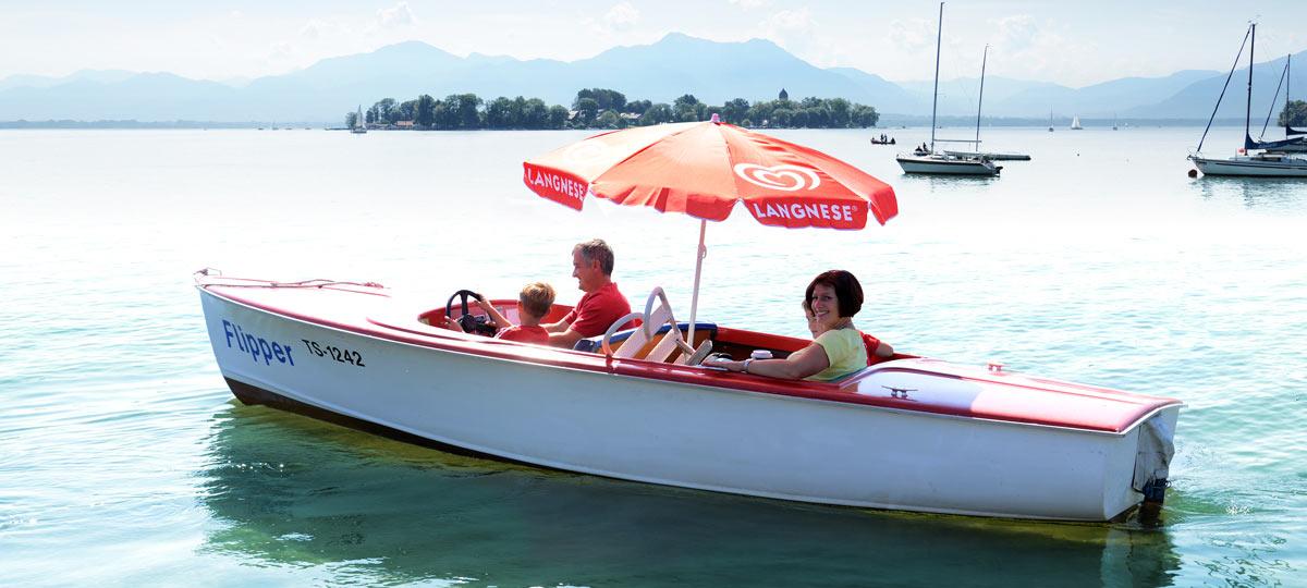 Elektroboot vom Bootsverleih Josef Rappl